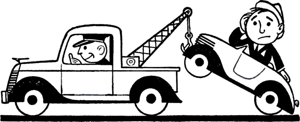 tow truck towing image