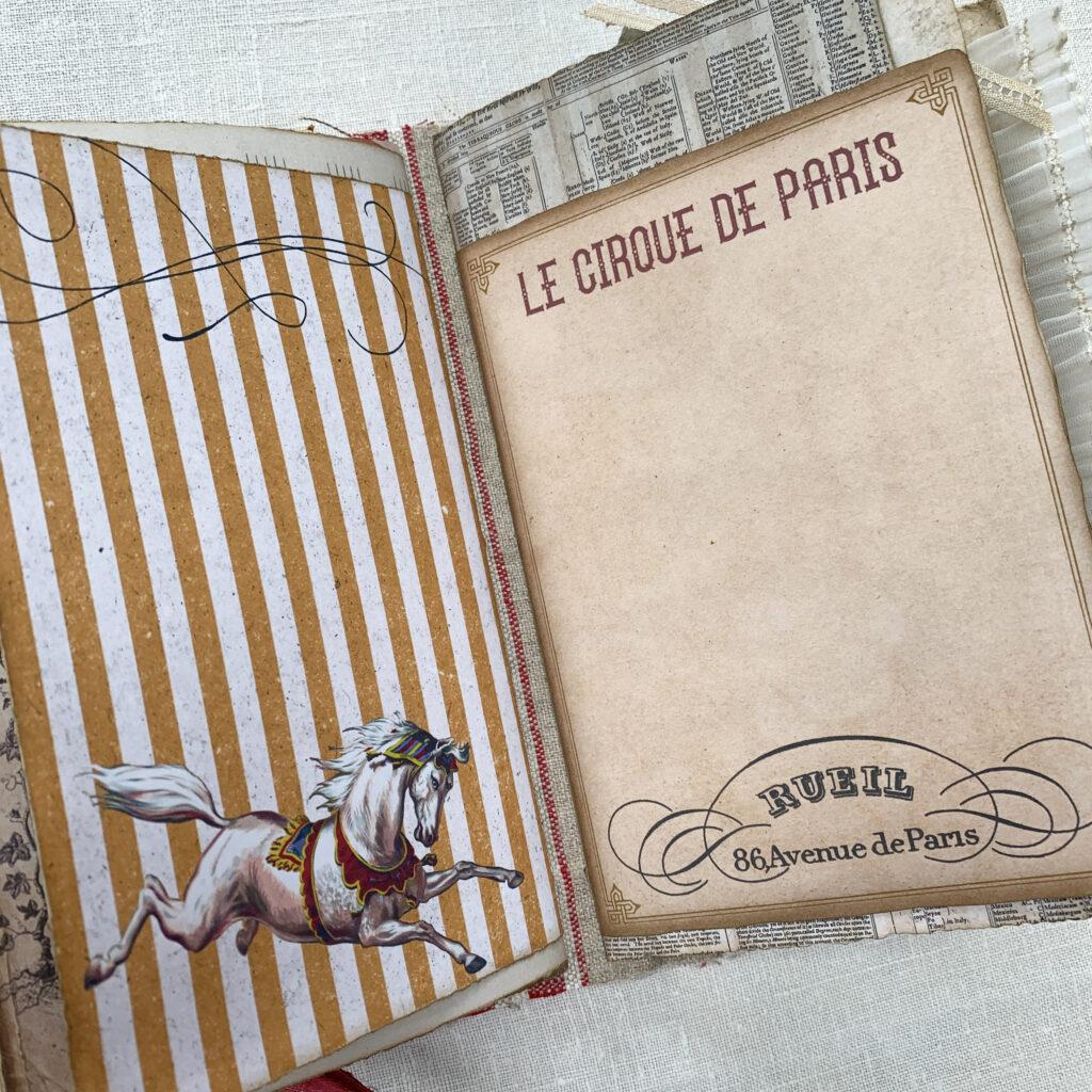 cirque de Paris journal spread