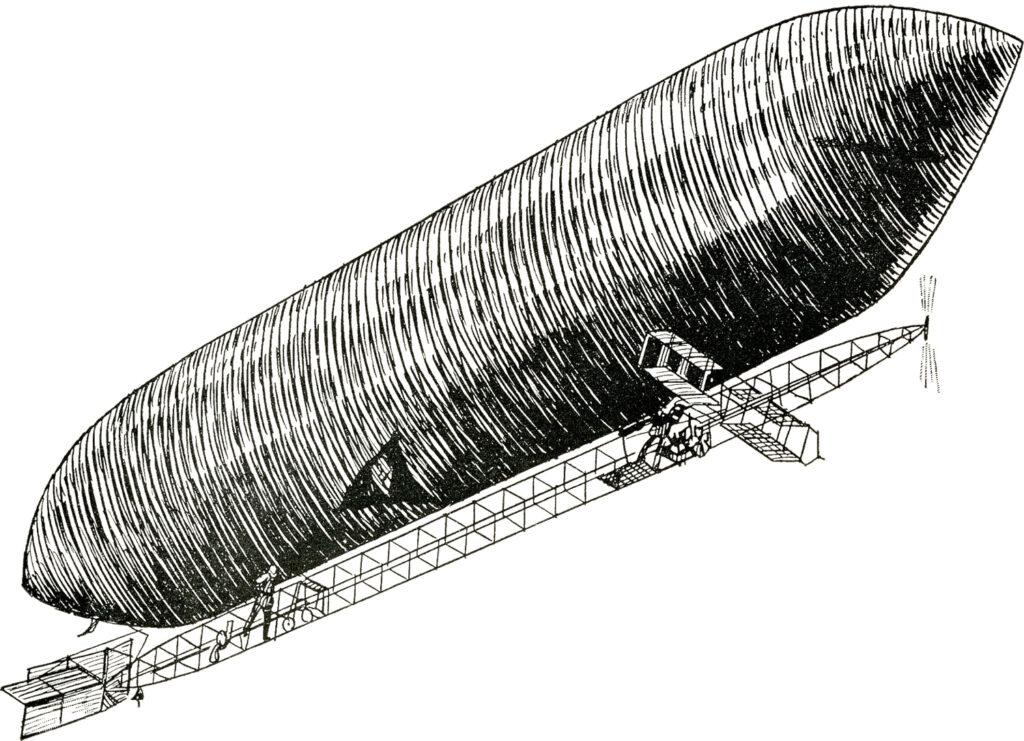 dirigible vintage clipart