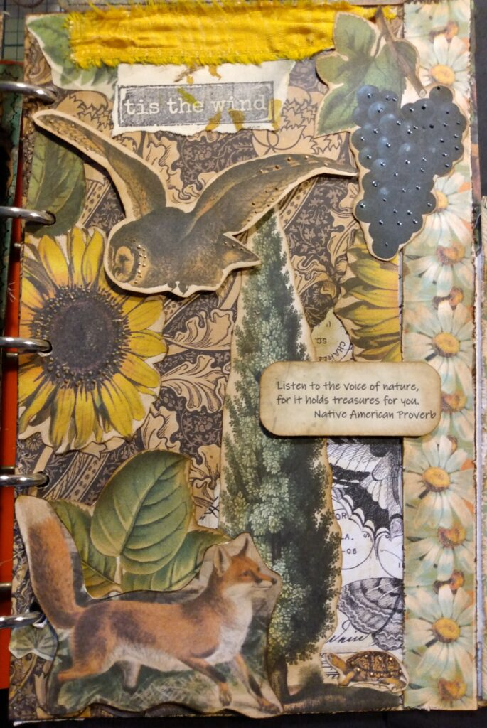 Fall Fox Owl Journal Page