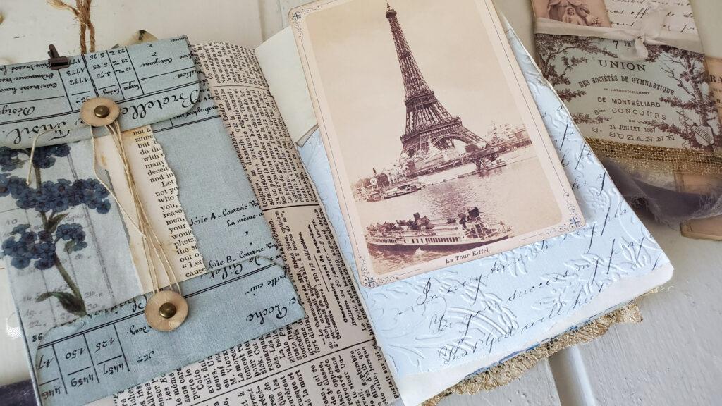 French Ephemera Eiffel Journal Page