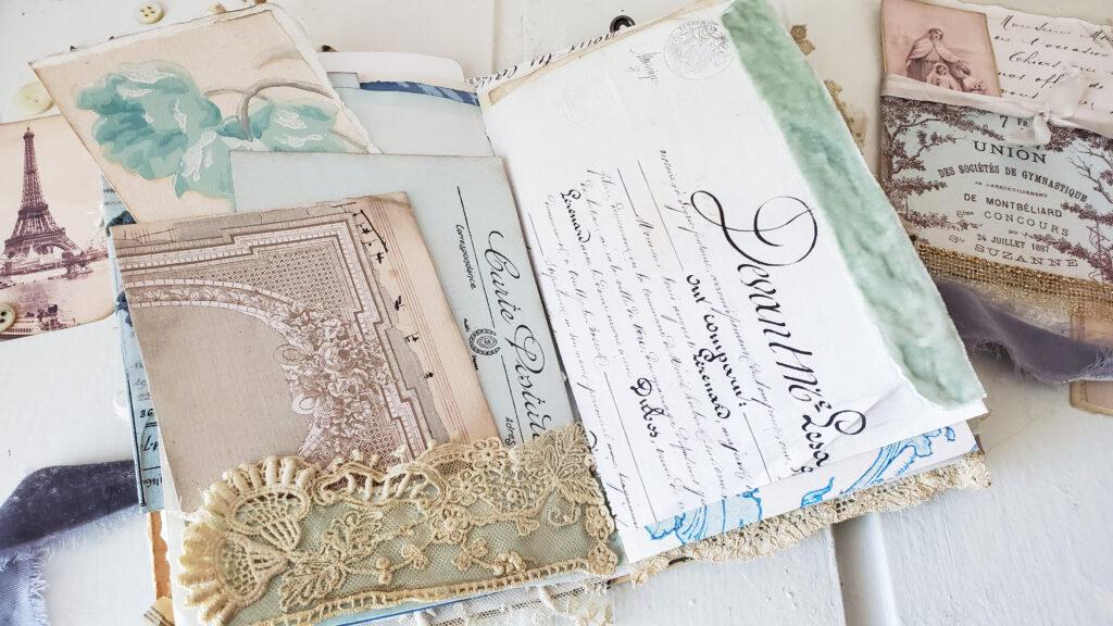 Antique Lace Junk Journal Pocket