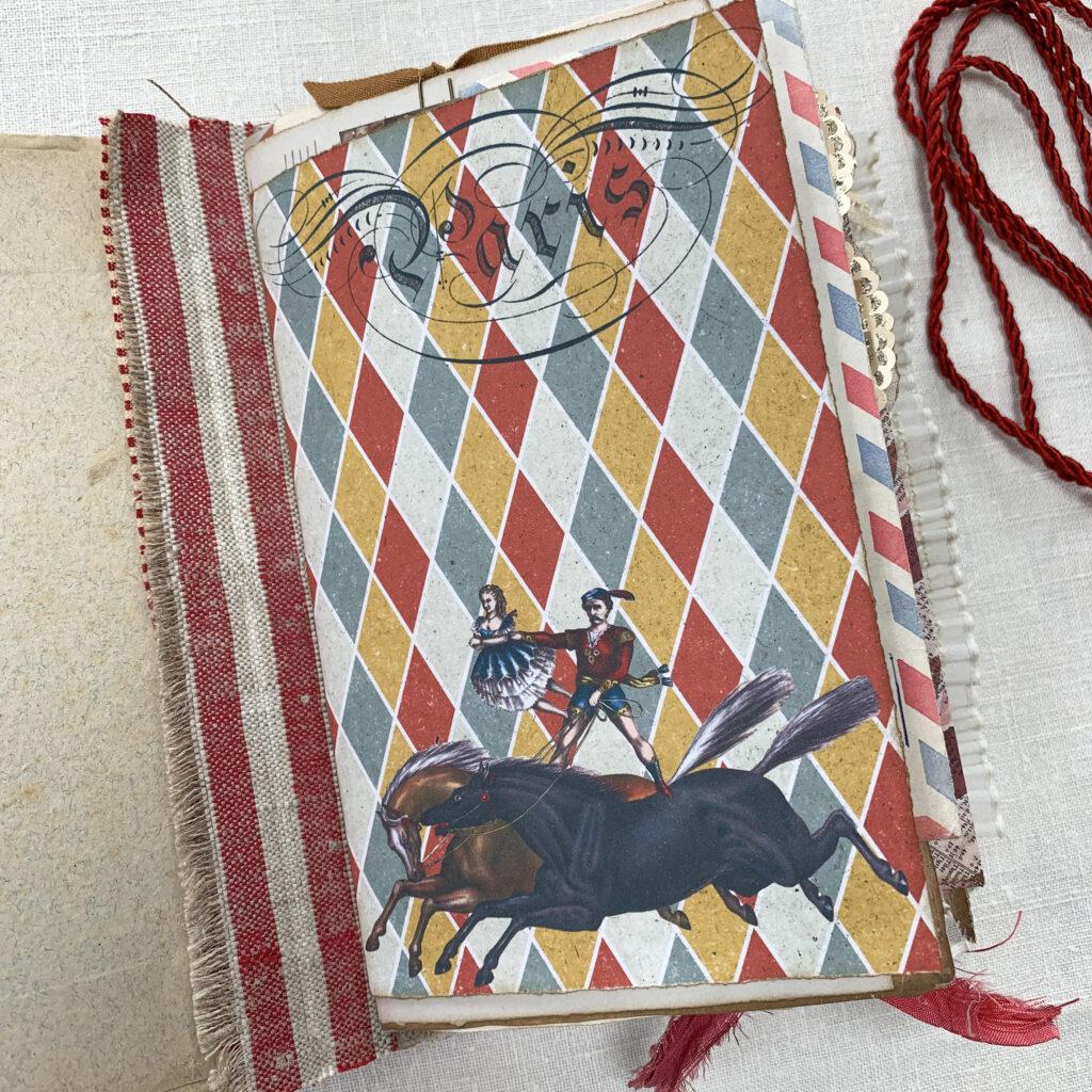 harlequin pattern circus page