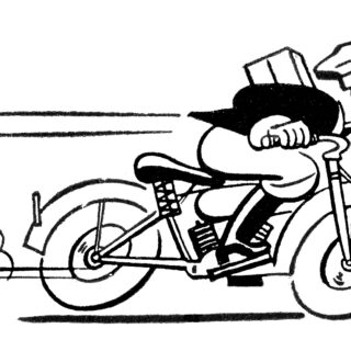 Motorcycle Mailman Clipart