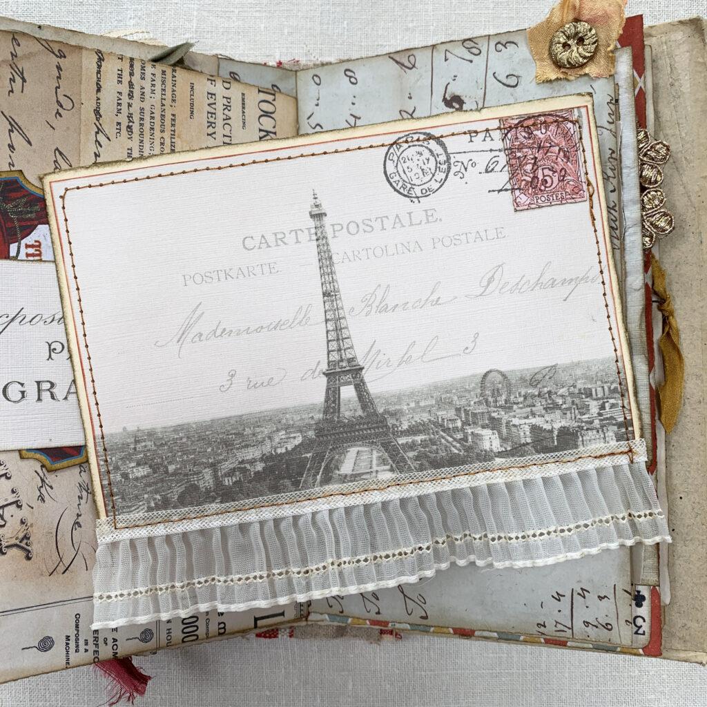 vintage Paris postcard image
