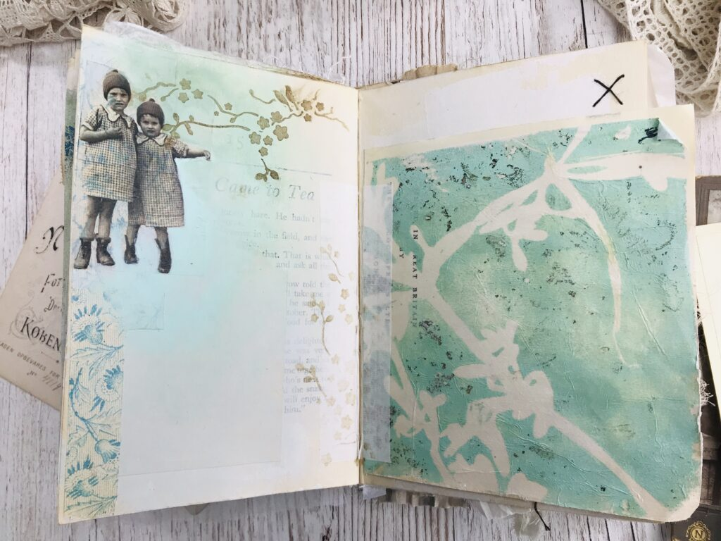 mint green journal page