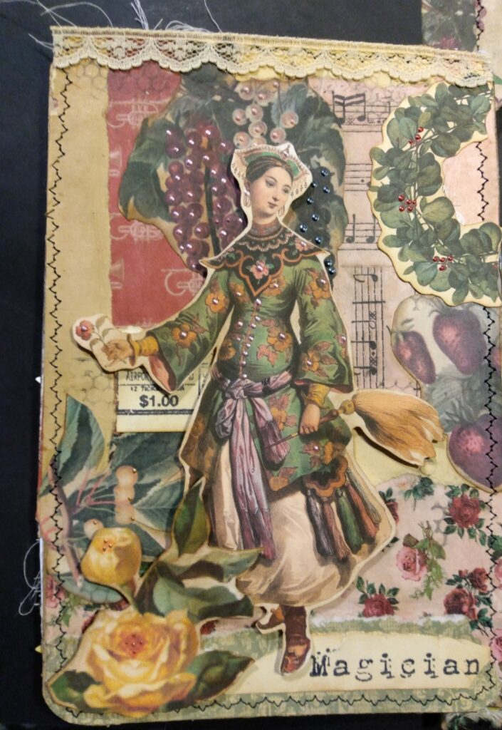 Spring Magician Junk Journal Page
