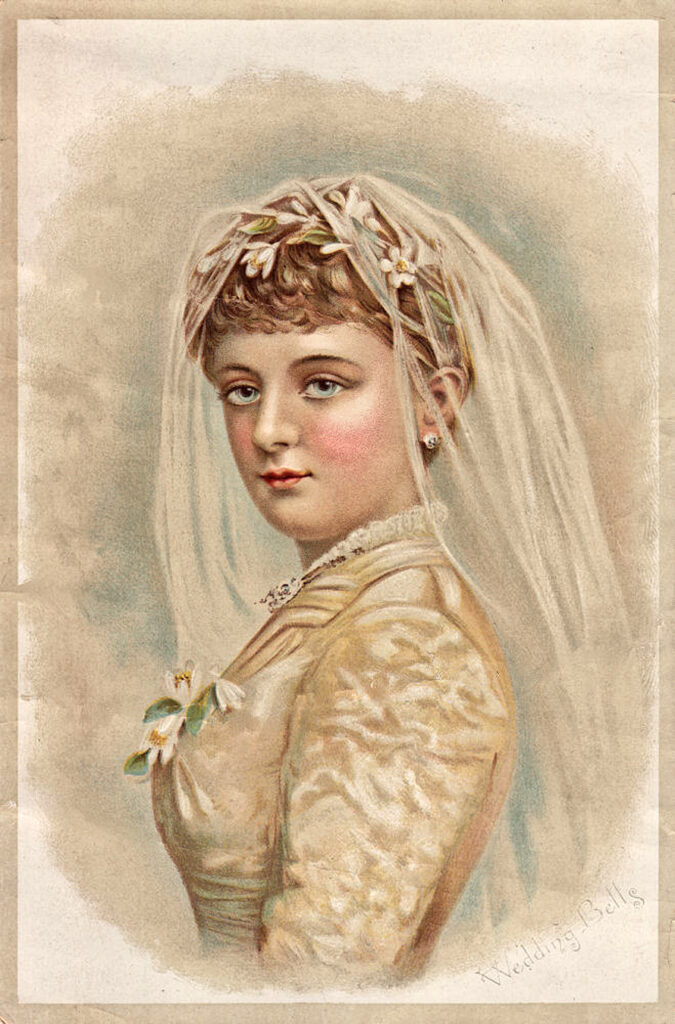 Victorian bride veil image