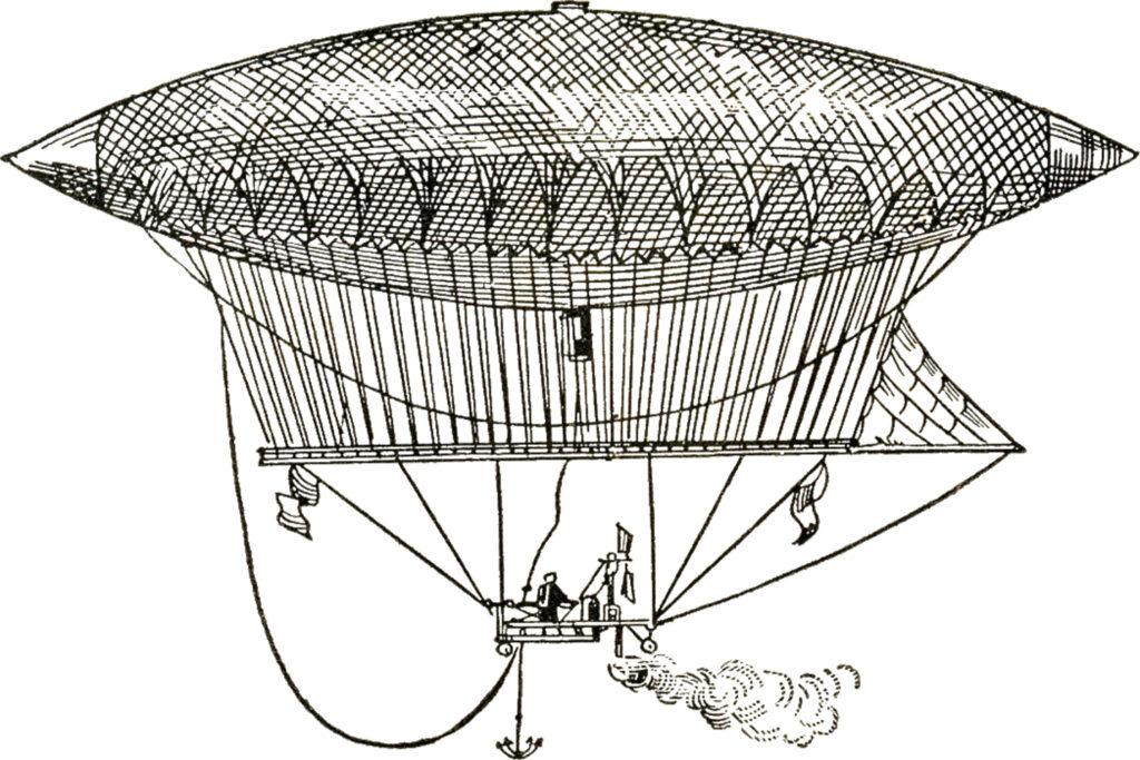 vintage dirigible illustration