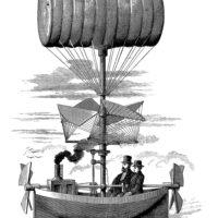 airship vintage image