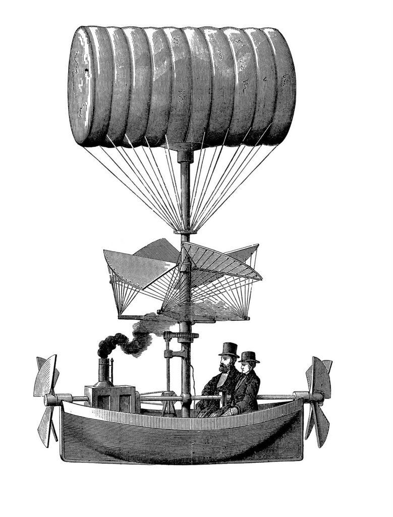 airship boat clipart