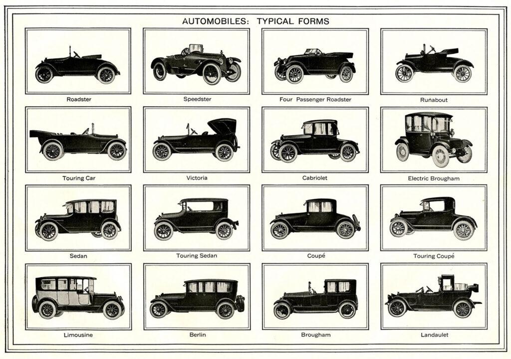 antique car identification chart image