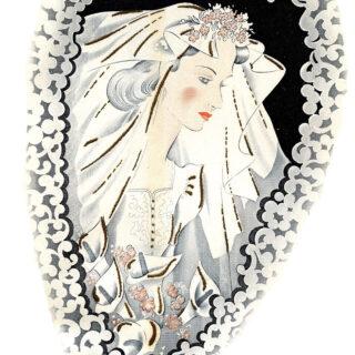 vintage bride heart frame image