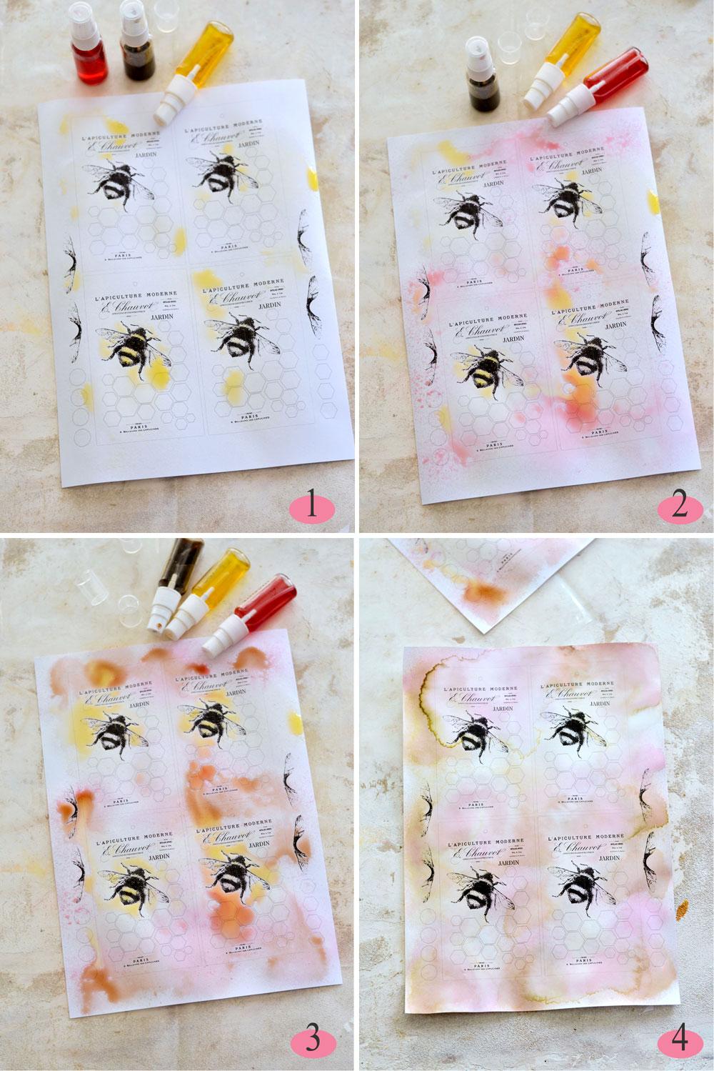 Bee Tags Step 1