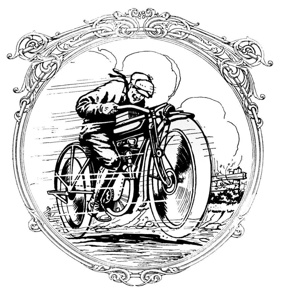 vintage motorcycle image