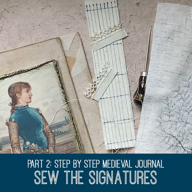 Medieval Journal Sew the Signatures Tutorial