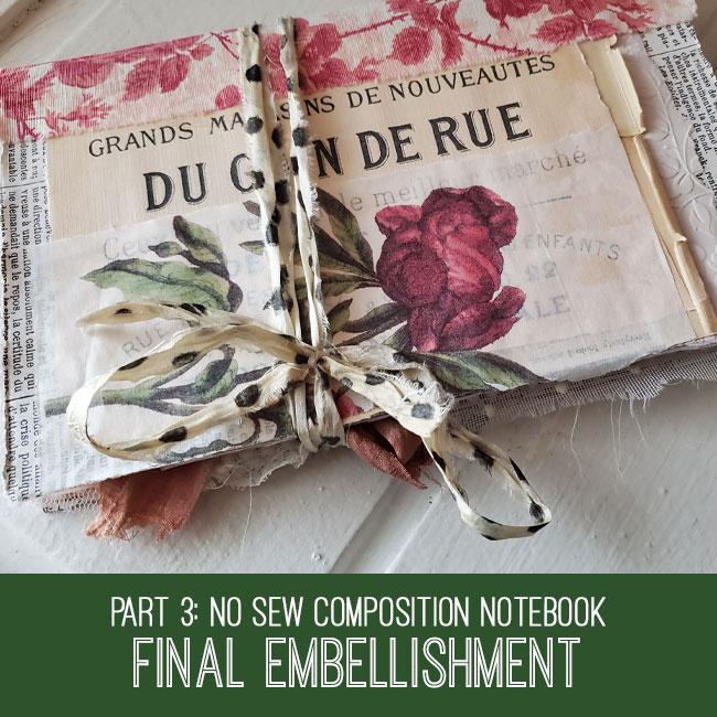 Composition Notebook journal final embellishment tutorial