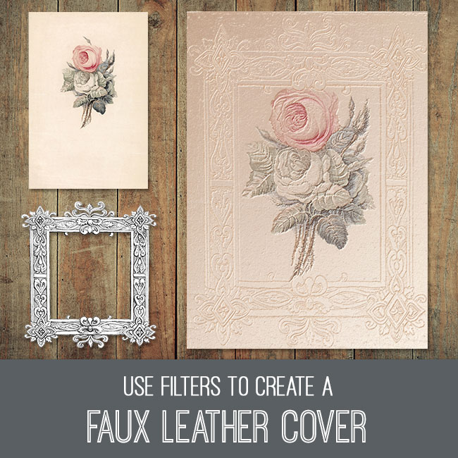 PSE tutorial faux leather cover
