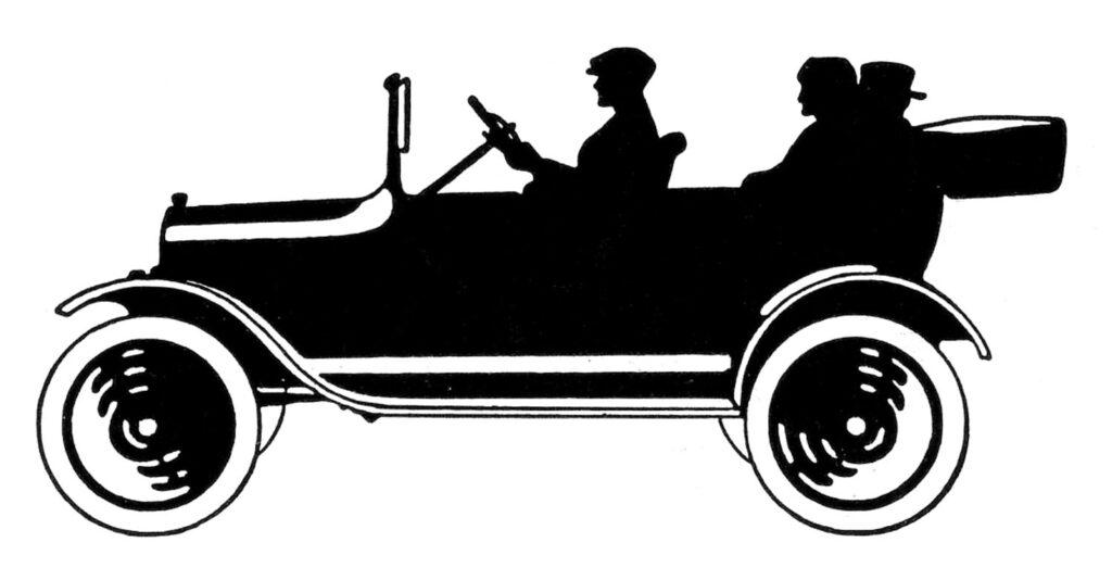 antique automobile silhouette image