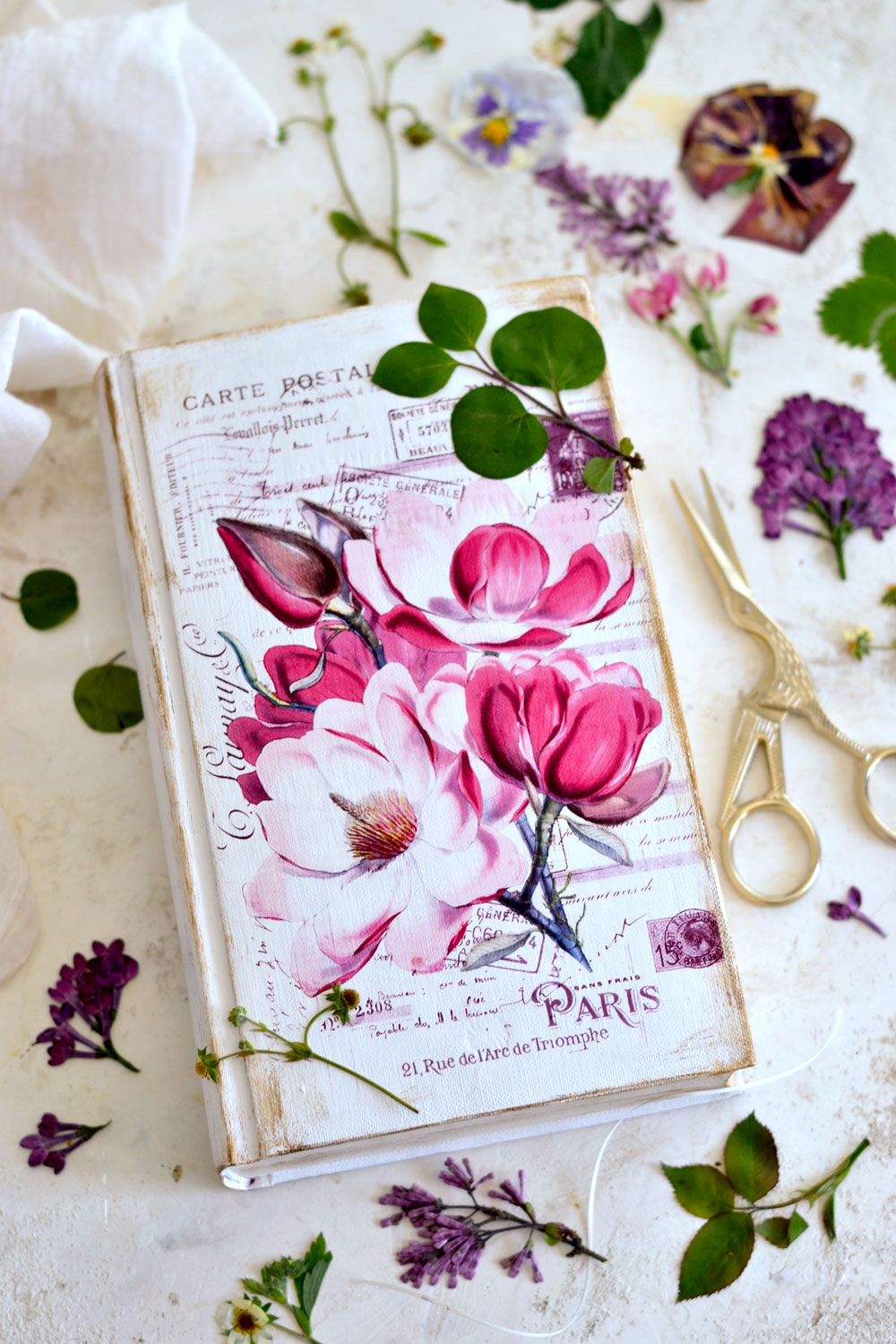 Upcycle a Book into a Pretty French Flower Press!