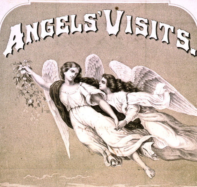Angel's Visits illustrated sheet music cover image