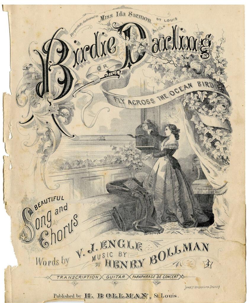 Birdie Darling vintage sheet music cover image