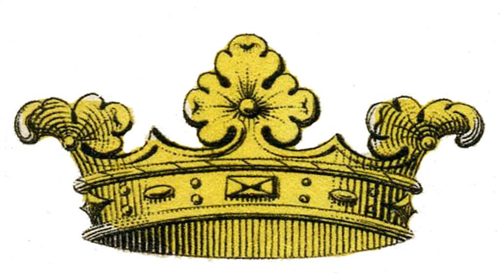 vintage gold crown clipart