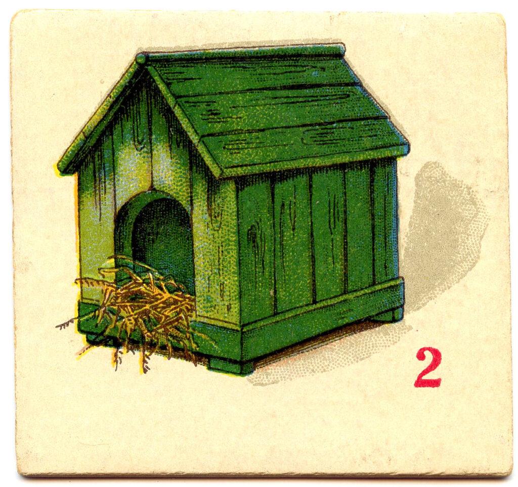 vintage green dog house image