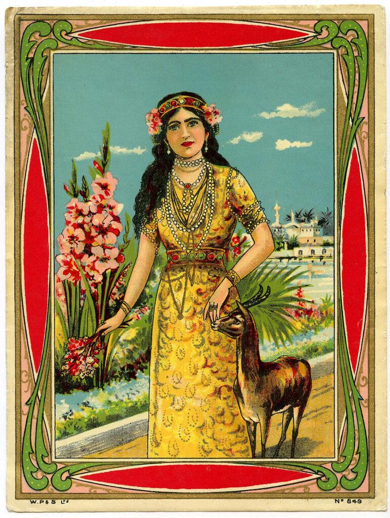 vintage exotic beauty flower headband image
