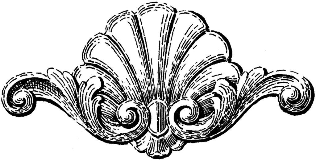 furniture decoupage shell ornament image