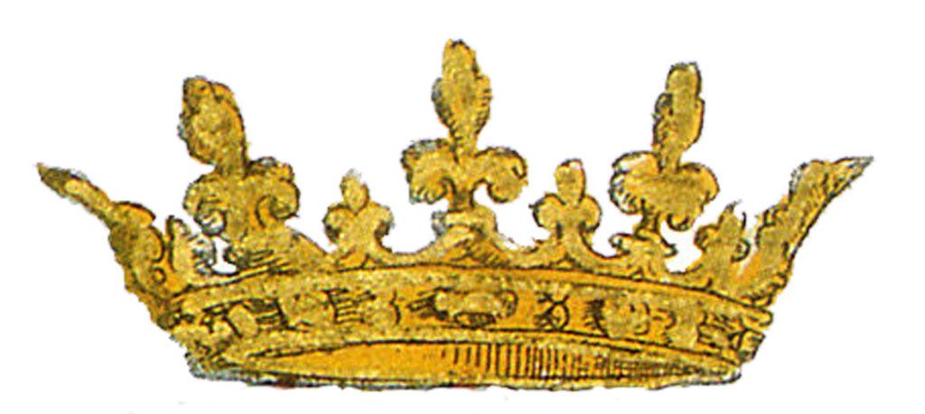 Antique gold crown image