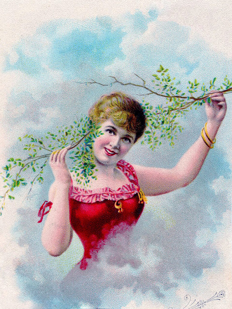 Lady with Branches in her Hair Image
