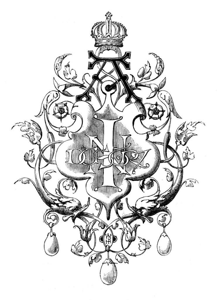 crown graphic printers ornament illustration