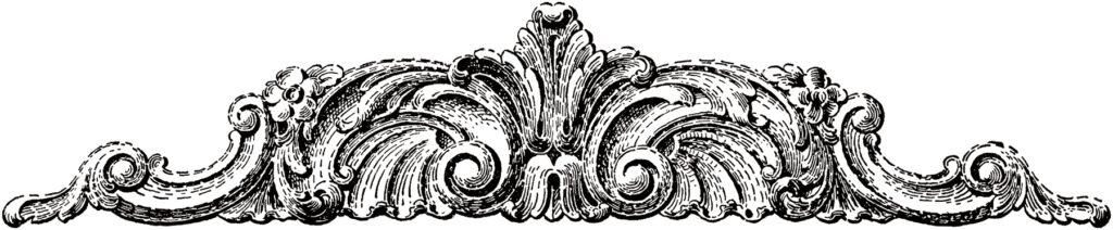 ornamental carved embellishment clipart