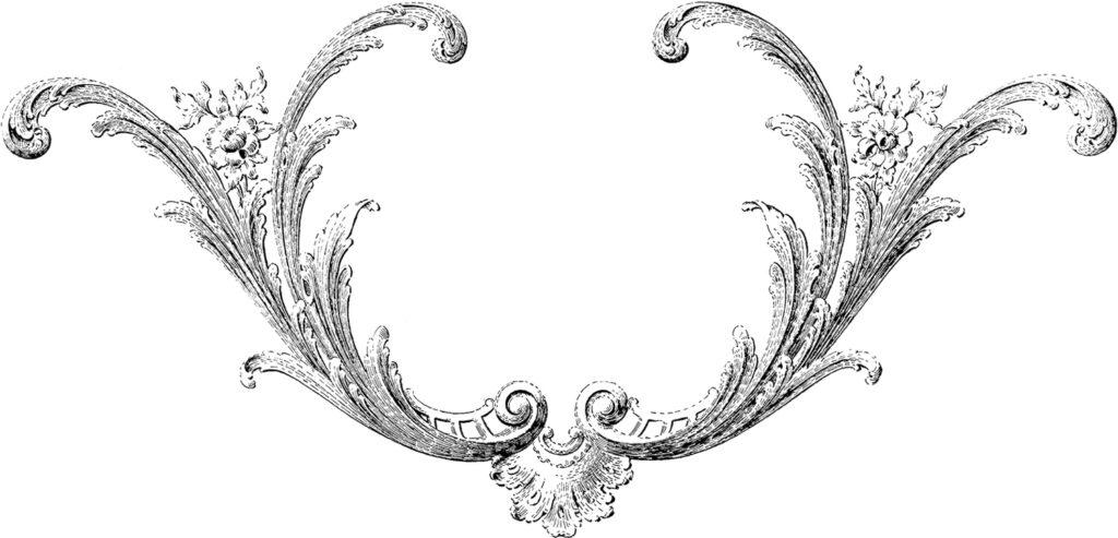 ornamental scroll frame image