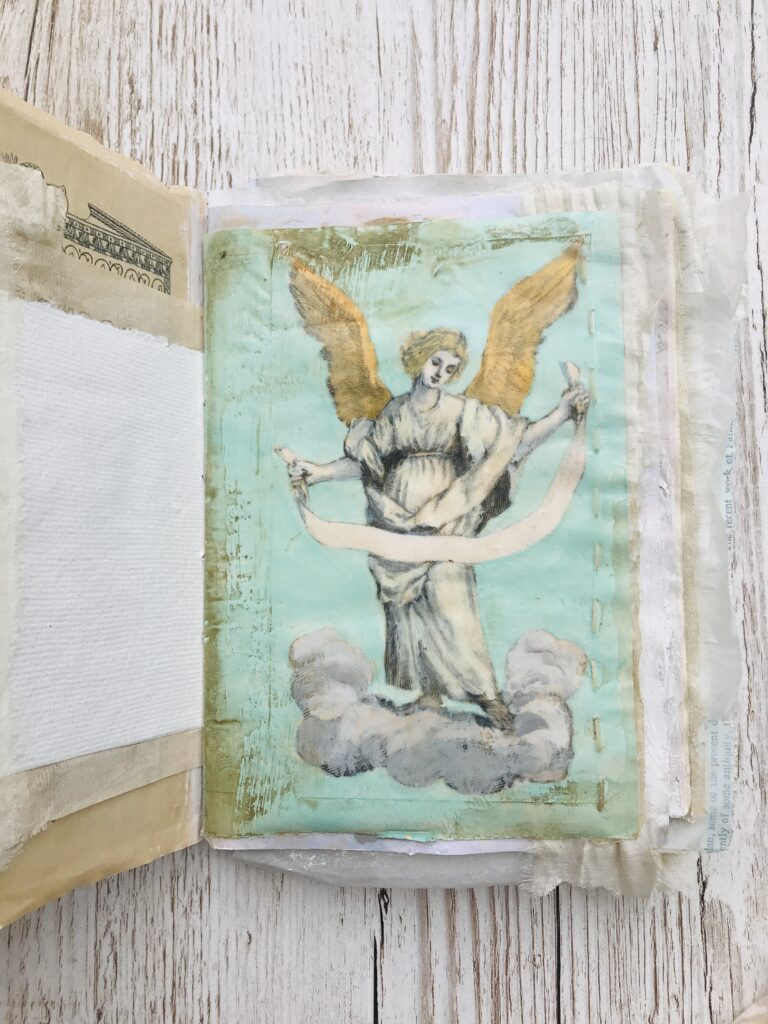 hand painted angel page