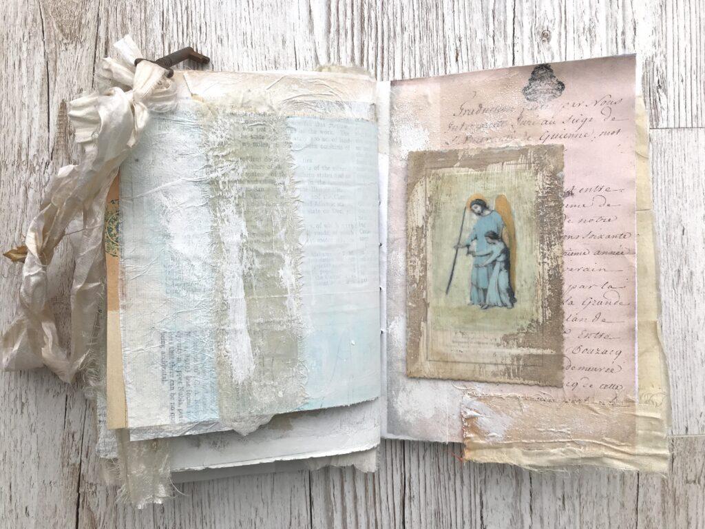 medieval angel journaling card