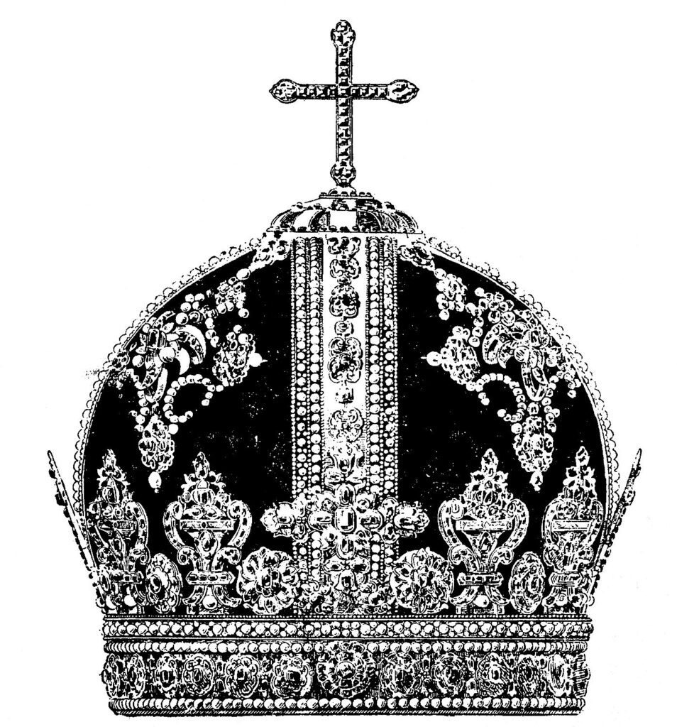 vintage Russian jeweled crown clipart