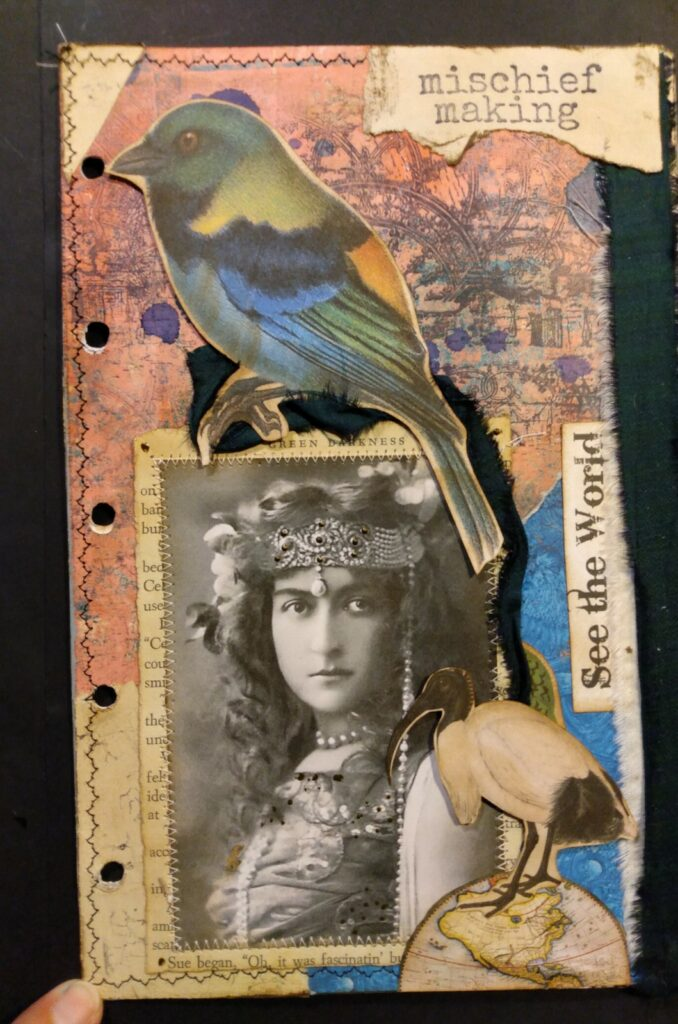 See the world junk journal page