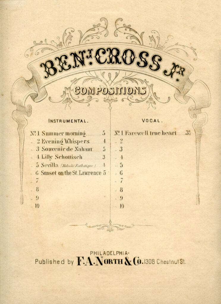 Ben Cross vintage sheet music clikpart