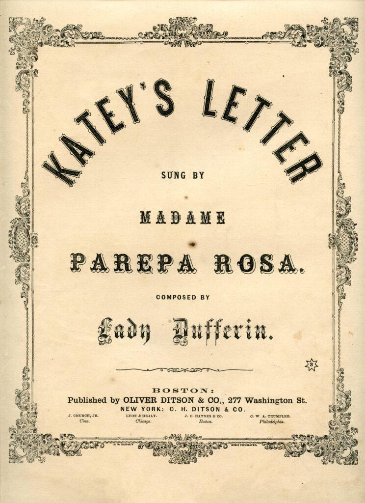 Katey's Letter black white sheet music clipart