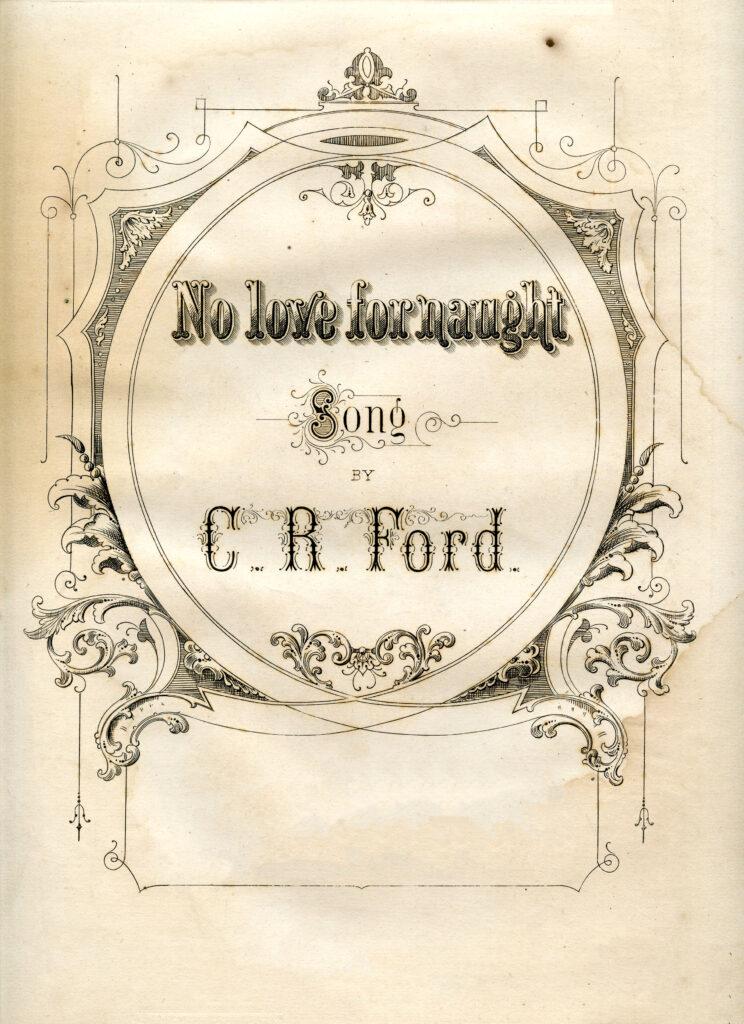 ornate sheet music cover illustration