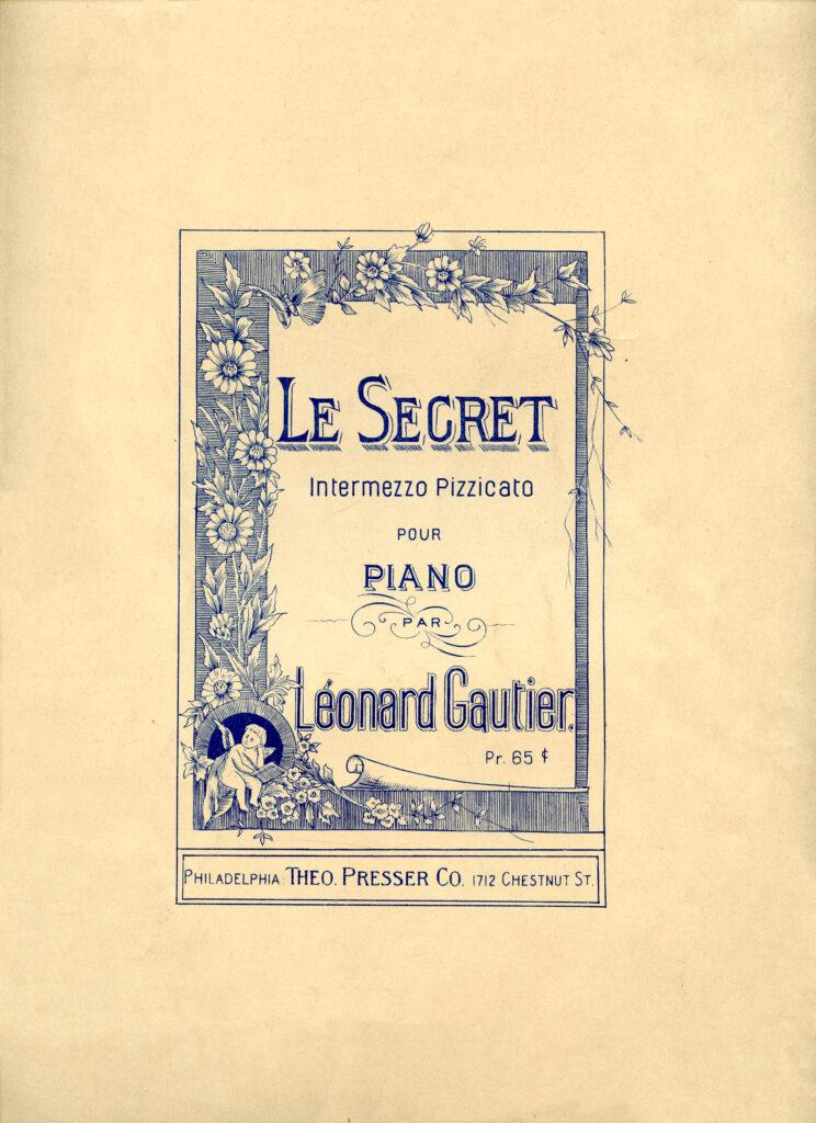 blue vintage sheet music cover image