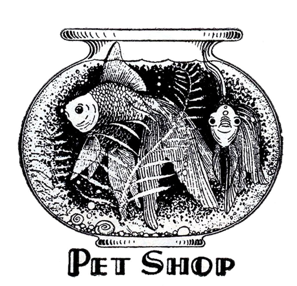 goldfish fish bowl vintage image