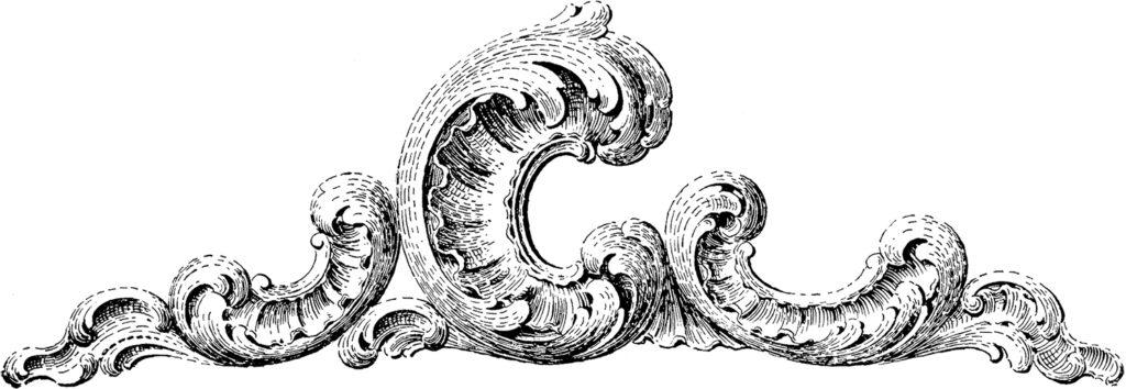 vintage ornamental scroll carving image