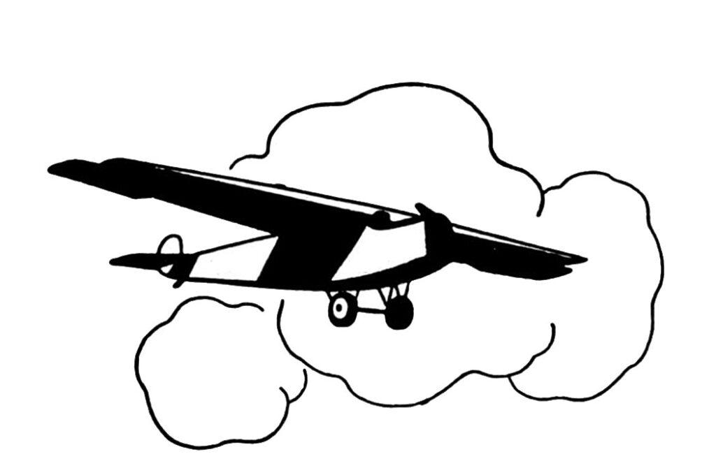 airplane cloud clipart