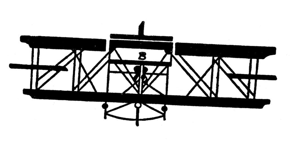 vintage airplane clipart