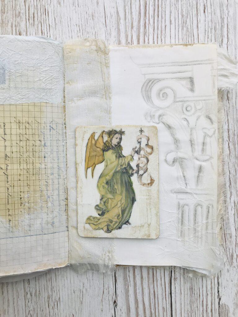 Angel ephemera journal page