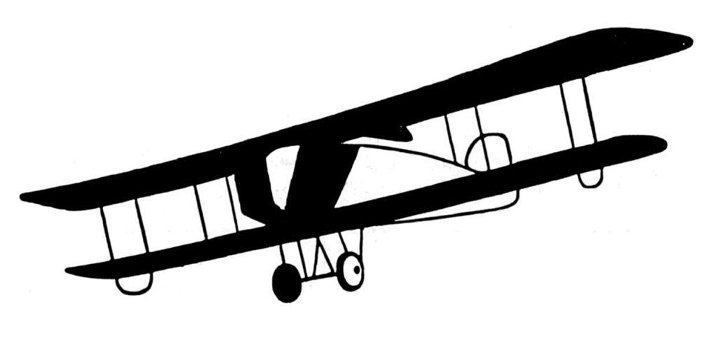 vintage biplane illustration