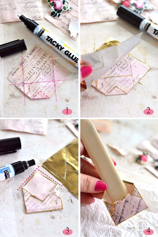 Gold Foil Papercraft Instructions